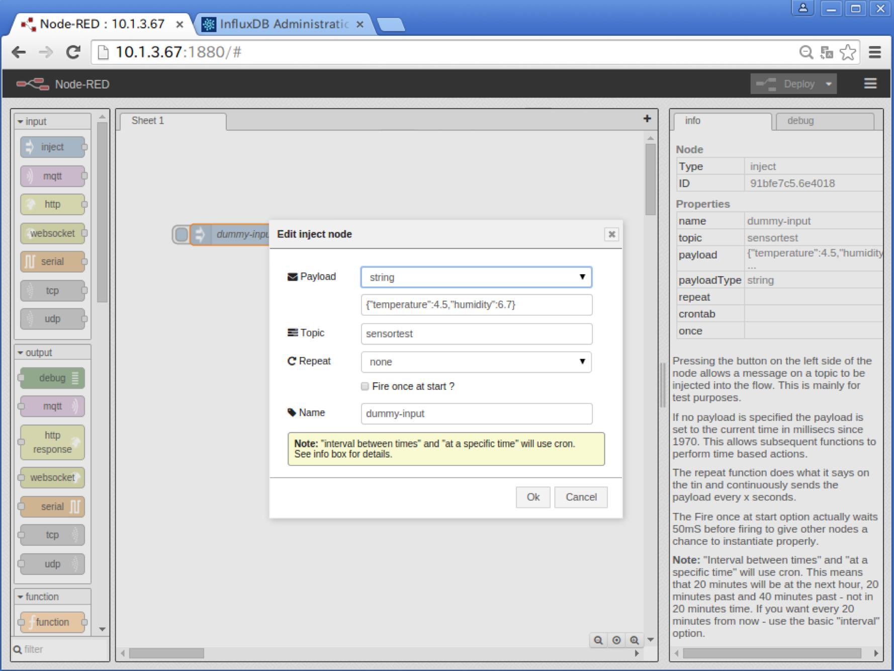 masato's blog          Node-RED on Docker - Part5: InfluxDBのnodeを作成する